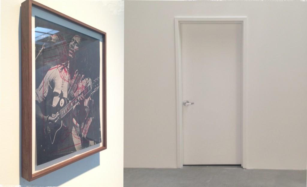 Gavin Brown, mapsricardoikea, installation view at Gavin Brown's Enterprise, NY, Photomontage by Katy Hamer, 2014