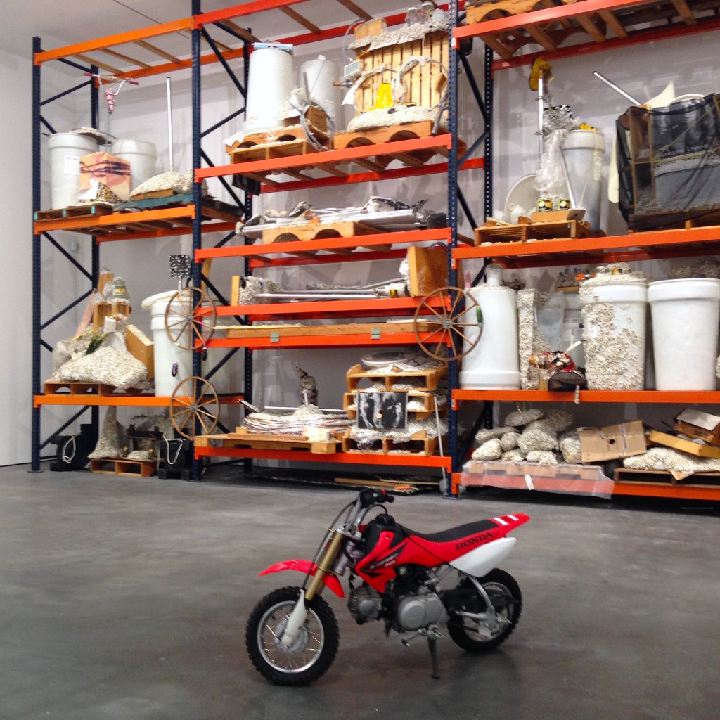 Jason Rhoades. Instalation view, David Zwirner, NY, Photograph by Katy Hamer, 2014