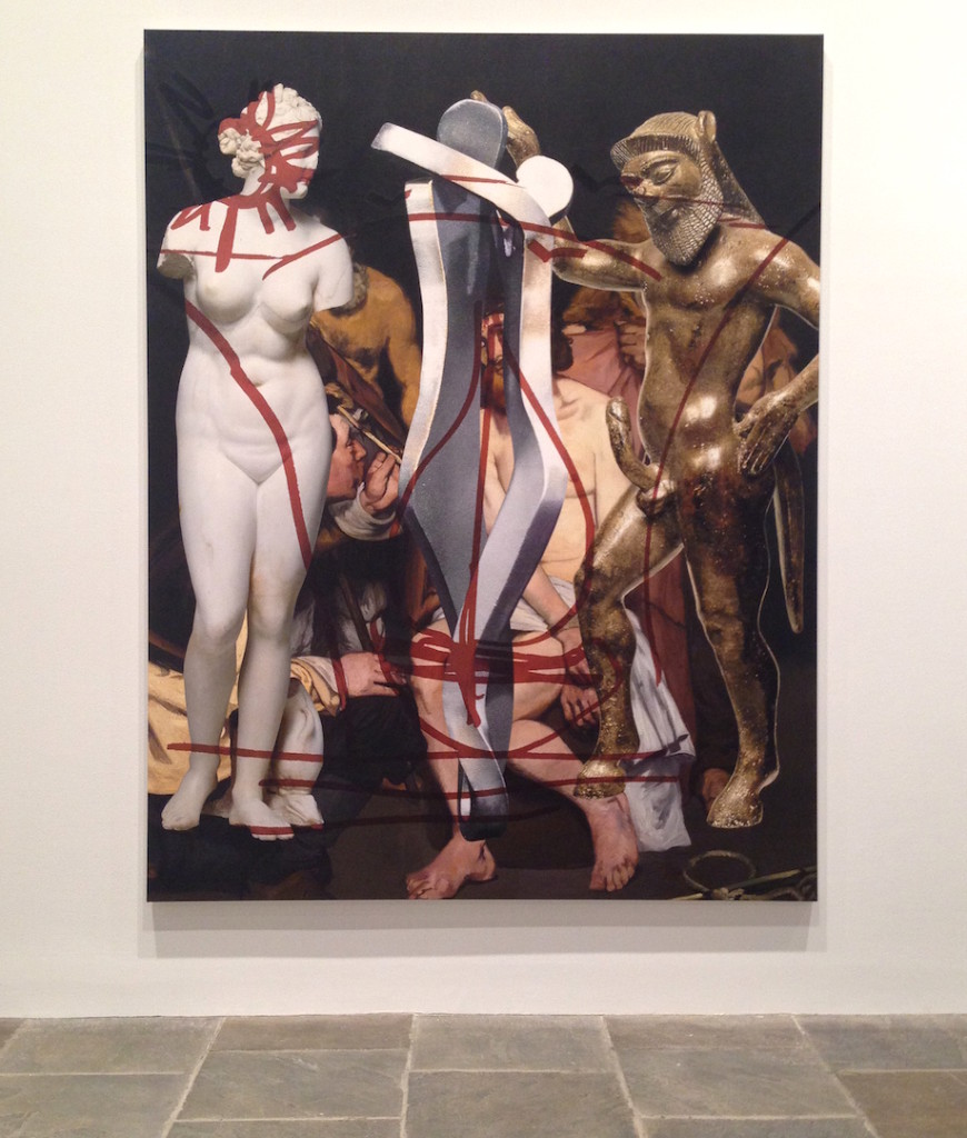 Jeff Koons, Antiquity (Manet), 2011-14, Oil on canvas, Collection of the artist, Installation view at the Whitney Museum of Art, NY, Photograph by Katy Hamer, 2014