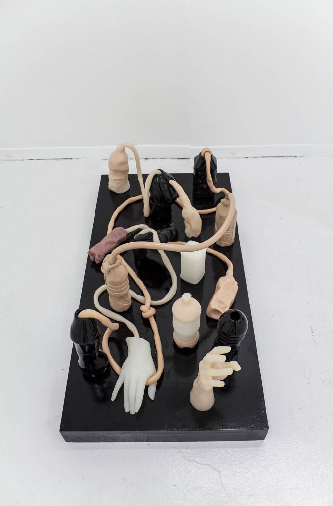 Phillip Birch, Tumorigenesis (Stage 1- Dyspeptic Desire Machines) Ceramic, silicone, urethane foam, MDF, Image courtesy of the artist