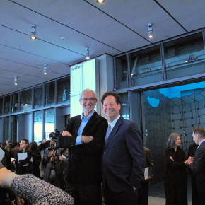Architect Renzo Piano and Adam Weinberg, Alice Pratt Brown Director of the Whitney Museum of American Art, Photograph by Katy Hamer, 2015