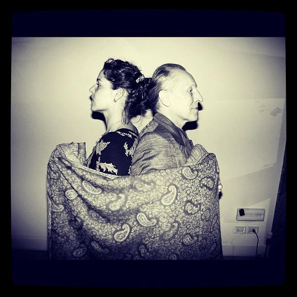 Lola Montes Schnabel and Luigi Ontani, Photograph courtesy of the artist.
